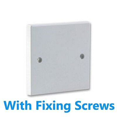 Single Wall BLANKING PLATE 1 Gang Light Plug Electric Switch Socket Cover White • 0.99£