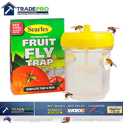 AU23 • Buy Fruit Fly Trap Searles® Ultimate With Wick Professional Fruit Fly Wasp Catcher