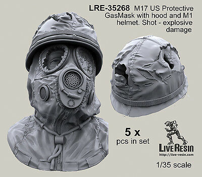 $ CDN21.27 • Buy Live Resin 1/35 LRE-35268 M17 US Protective GasMask (5)