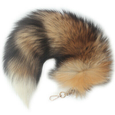 $10.99 • Buy Sexy Red Sunny Fox Tail FurHandbag Accessory Key Chain Ring Hook Cosplay Toy