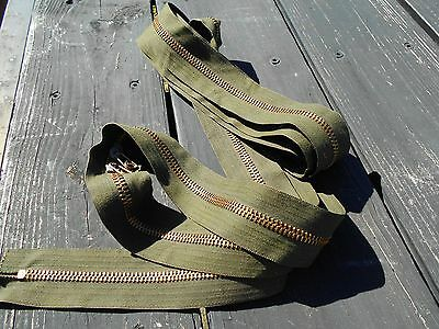 $20 • Buy Military Surplus Zipper 150  For Tent Tarp Canvas Double Pull Truck Trailer Army