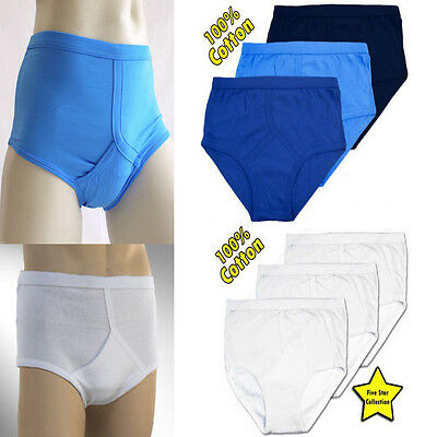 6X Mens Y Fronts Interlock Cotton Briefs Underpants Slips Pants Underwear S-5XL • 13.99£