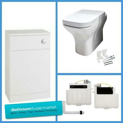 Modern Toilet Soft Close Seat Short Projection Back To Wall Toilet Compact WC • 153£