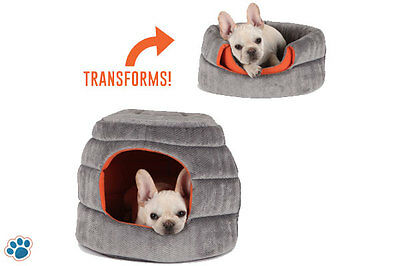 AU23.99 • Buy 2 Way Use Pet Bed Dog Cat Foldable Sofa Dome Igloo Cave House Pup Kitten Cushion