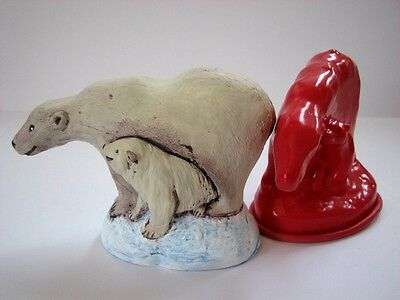 Z7095 Polar Bear And Cub - Rubber Latex Moulds By MouldMaster • 4.50£