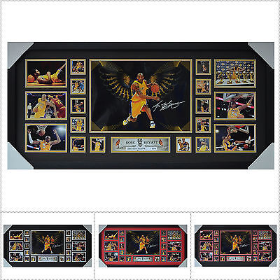 AU187 • Buy Kobe Bryant Signed Framed Limited Edition Large Size V1 - Multiple Variations