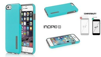 £9.95 • Buy NEW INCIPIO DUALPRO Blue HARD SHELL CASE COVER FOR 4.7  IPHONE 6 IPH-1179-BLUGRY