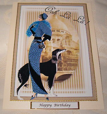 £1.65 • Buy Art Deco Lady Female Birthday Card Can Be Personalised