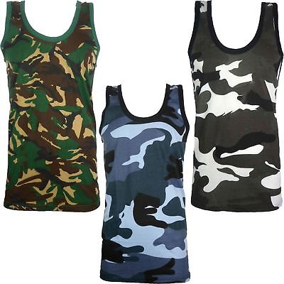 £2.99 • Buy Mens Camouflage Vest Sleeveless Muscle Top Military Jungle Combat Army Gym Shirt