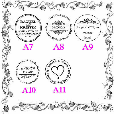 AU21.24 • Buy Wedding & Events Names Initials Date Custom Rubber Flash Stamps Self Inking