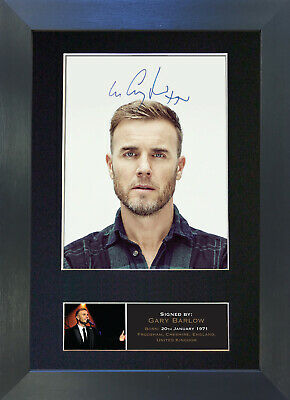 GARY BARLOW Signed Mounted Reproduction Autograph Photo Prints A4 402 • 17.99£
