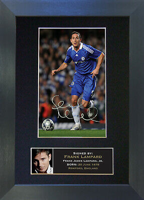 FRANK LAMPARD Chelsea Signed Mounted Reproduction Autograph Photo Prints A4 38 • 19.99£