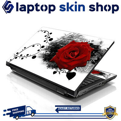 £7.93 • Buy Laptop Sticker Skin Protective Notebook Vinyl Decal Red Rose Art 13-16.5 Inch
