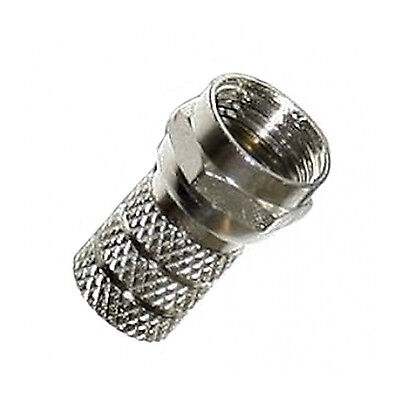 £8.75 • Buy 100 X Screw Twist On Twin Shotgun F Connectors To Fit Satellite TV Coaxial Cable