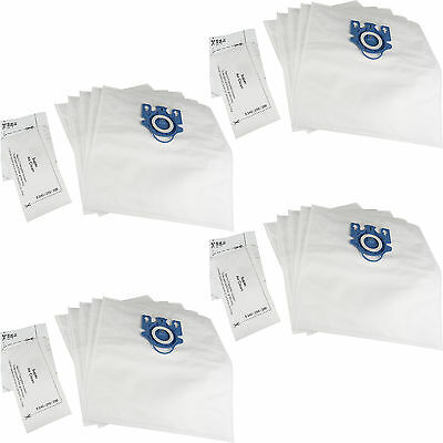 20 X GN Hoover Bags + Filters For Miele Complete C2 C3 Powerline Silence Ecoline • 12.95£