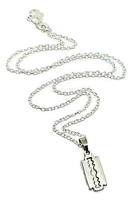 Razor Blade Pendant Peaky Blinders  Small 18 Inch Chain Mobster Gang Necklace • 3.70£