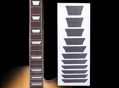 Fretboard Markers Inlay Sticker Decal For Guitar & Bass ,Sliver Trapezoid • 5.92£