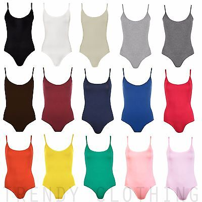 £2.99 • Buy Womens Sleeveless Cami Top Bodysuit Leotard Camisole Vest