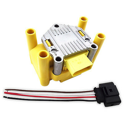 $59.95 • Buy 1999 2000 2001 Ignition Coil Volkswagen Vw 2.0 Golf Beetle Jetta & Wire Harness