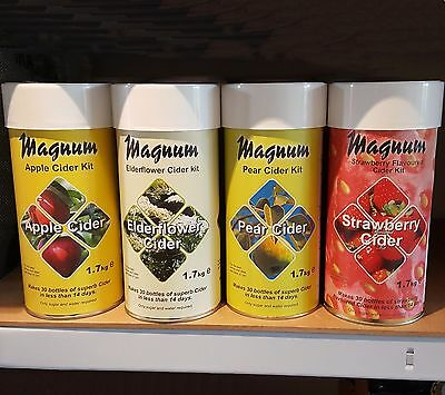 Magnum Homebrew Cider Kit -choice Of Apple, Elderflower, Pear Or Strawberry  • 25.75£