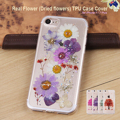 AU6.99 • Buy Real Flower Dried Flower Thick TPU Back Case Cover For IPhone 5s SE 6s 7 Plus