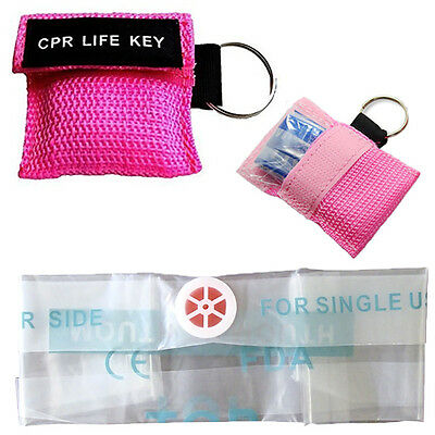 CPR Face Shield Mouth To Mouth Resus Paramedic St John Medic Doctor Nurse PINK • 3.49£