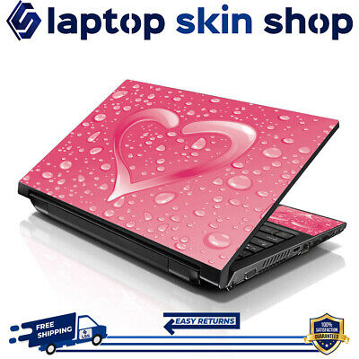 £7.93 • Buy Laptop Skin Sticker Decal Protection Vinyl Film Wrap Pink Heart 13-16.5 Inch