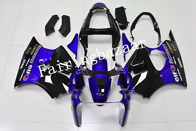$510 • Buy Fit For 2000-02 ZX6R/2005-08 ZZR600 Black Blue ABS Injection Drilled Fairing Kit