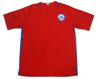 9612412c3af Chile Soccer Futbol Red Home Jersey Embroidered Patch Logo Men's S, M, L,