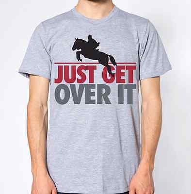 Horse Riding T-Shirt Just Get Over It Top Betting Tee • 8.99£