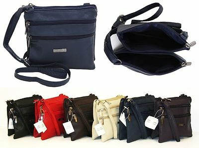 New Ladies Small Genuine Soft Leather Shoulder Cross Body Travel Purse Bag  • 6.99£