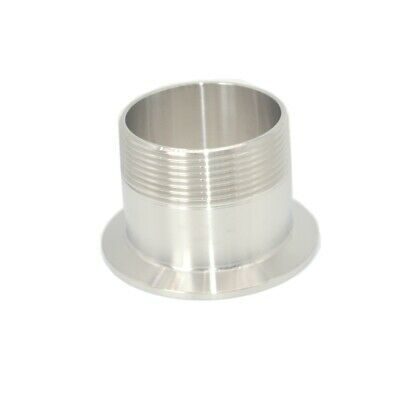 AU15.46 • Buy 2  DN50 Sanitary Male Threaded Ferrule Pipe Fitting Tri Clamp Type SS304