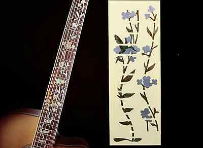 Fretboard Markers Inlay Sticker Decal For Guitar & Bass ,Bird & Flower Full Size • 11.10£
