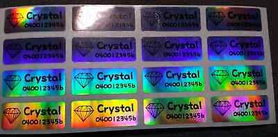 AU3.99 • Buy Small Laser Personalised Name Labels, Name Stickers, 22x09mm, Waterproof