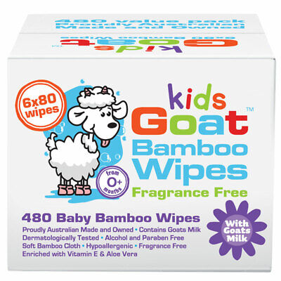 AU21.99 • Buy Goat Bamboo Wet Wipes 480 Pack