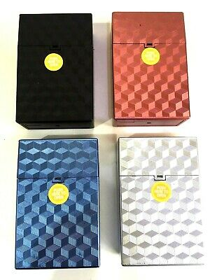 KING SIZE CIGARETTE BOX/CASE CIG PACK Choice Of 3 Colours 85MM • 5.85£