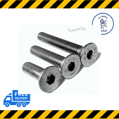 Countersunk Socket Bolt Screw M10 10MM A2 Stainless Steel • 2.50£