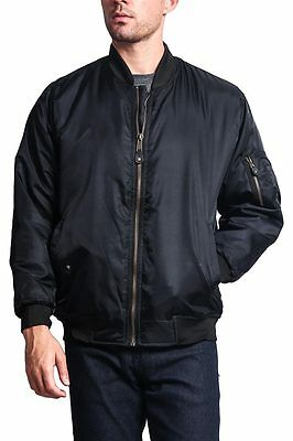 $19.95 • Buy Men's Reversible Light Weight Padded Bomber Military Air Force  Jacket MA1-S8I