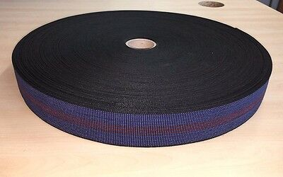 £10.99 • Buy Blue Elasticated 2  Upholstery Webbing For Seats, Chairs & Furniture