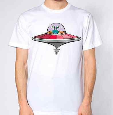 Alien Spaceship T Shirt Ufo Hipster Hate Swag Space Cartoon Funny  • 8.99£