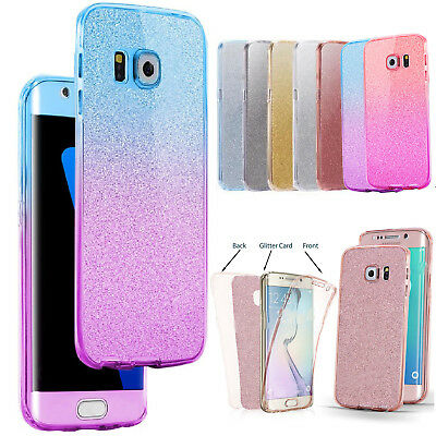 $ CDN4.58 • Buy For Samsung Galaxy S6 S8 S9 Phones Case Glitter Shockproof Hybrid 360 TPU Cover