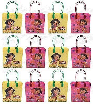 Nickelodeon Dora The Explorer Party Favor Supplies Goody Loot Gift Bags [12ct] • 10.73£