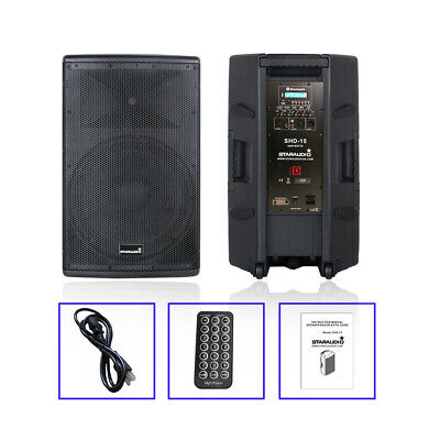 $1999 • Buy STARAUDIO 4000W 15  DJ PA Powered Active Speaker System Bluetooth PA DJ Speaker