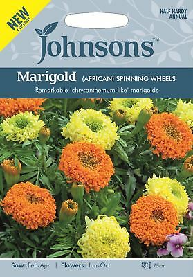 Johnsons - Flower - Marigold (African) Spinning Wheels - 100 Seeds • 2.85£