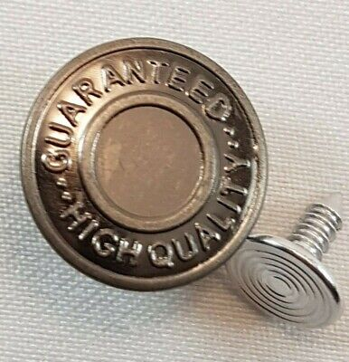 10 X 17mm  (Hammer On) Jean Stud Buttons In Gun Metal With Pins Easy Fix • 2.49£