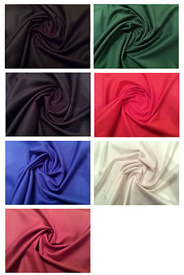 £6.99 • Buy PLAIN 100% COTTON DRILL TWILL CLOTHING CRAFT UPHOLSTERY FABRIC 150cm WIDE