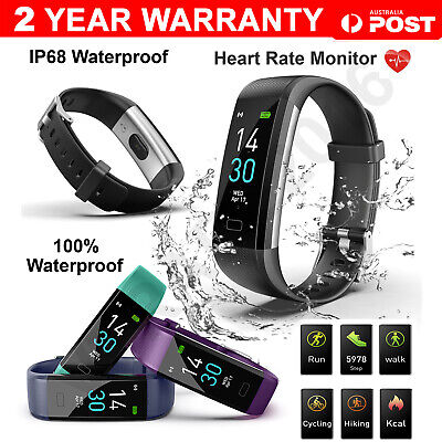 AU27.99 • Buy Bluetooth Smart Bracelet Fitbit Style Heart Rate Monitor Watch Pedometer Tracker