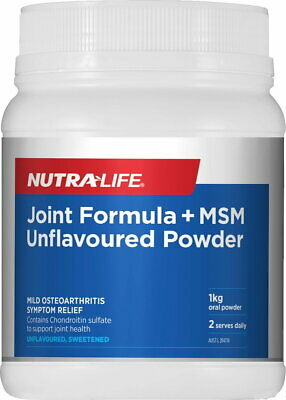 AU42.95 • Buy New NUTRALIFE Joint Formula Glucosamine Chondroitin MSM Powder 1KG Joint Food