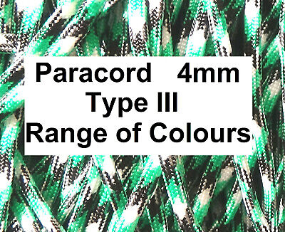 PARACORD Cord Rope String Line 4mm Poly Synthetic Sailing Tie Lanyard Corde UK • 1.41£