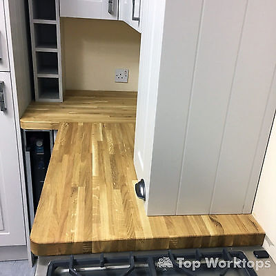 Up To 10% Off Solid Oak Kitchen Worktops Real Wood ✔all Sizes✔bars✔upstands • 140£